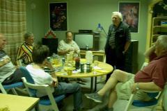 Göte, Ingemar, Gunnar och Bernt i gamla klubblokalen